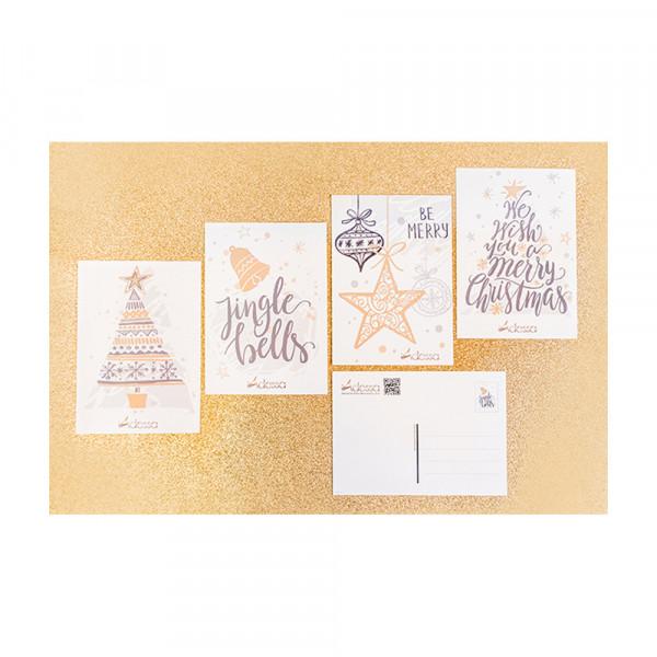 Adessa Postkarten Weihnachten, 4er-Set