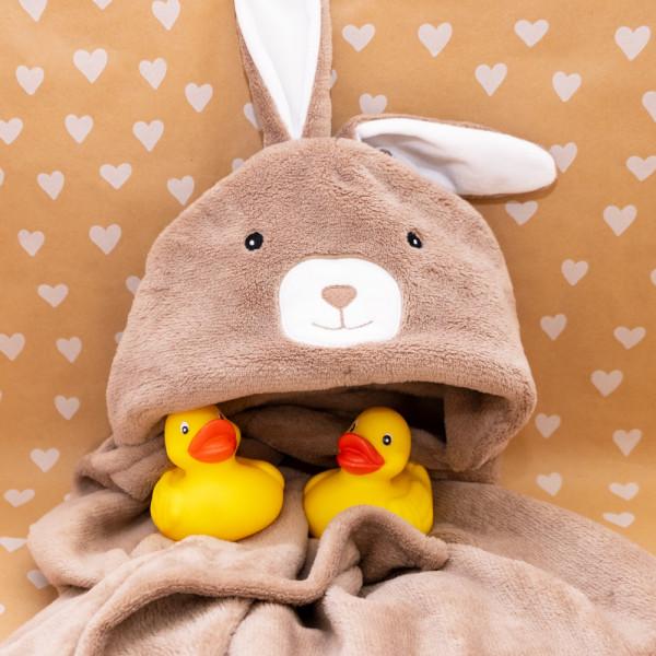 Adessa Baby- und Kinderhandtuch Bunny mit Kapuze