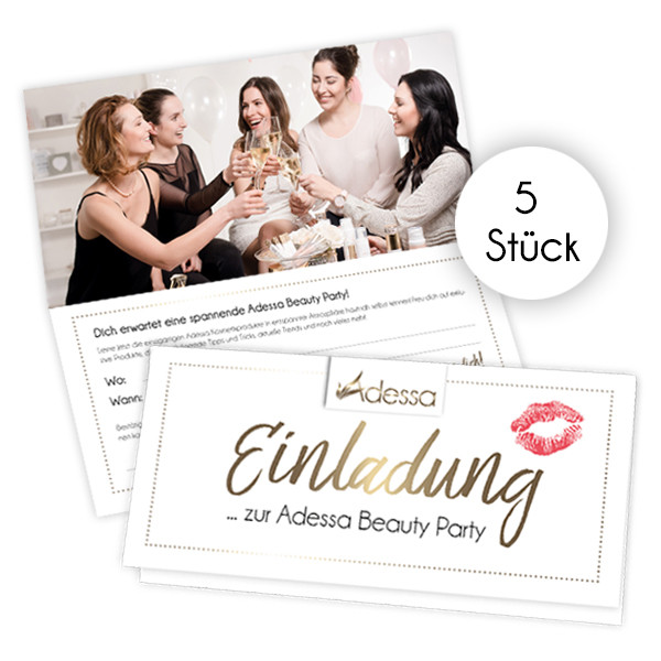 Einladungskarten für Gastgeber, 5 Stück