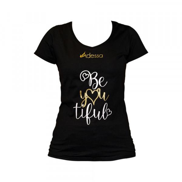 Adessa BeYOUtiful T-Shirt, schwarz Kurzarm, Grösse XS