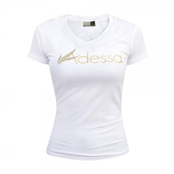 Adessa Damen T-Shirt weiß, Kurzarm, Gr. S