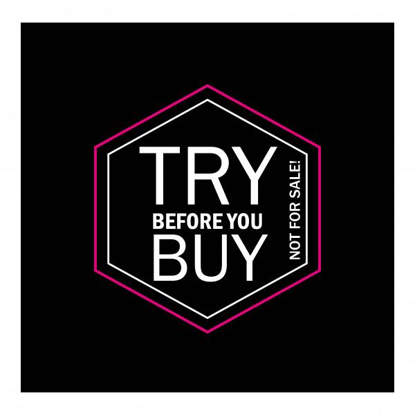"Adessa Aufkleber ""try before you buy"", 50 Stück"