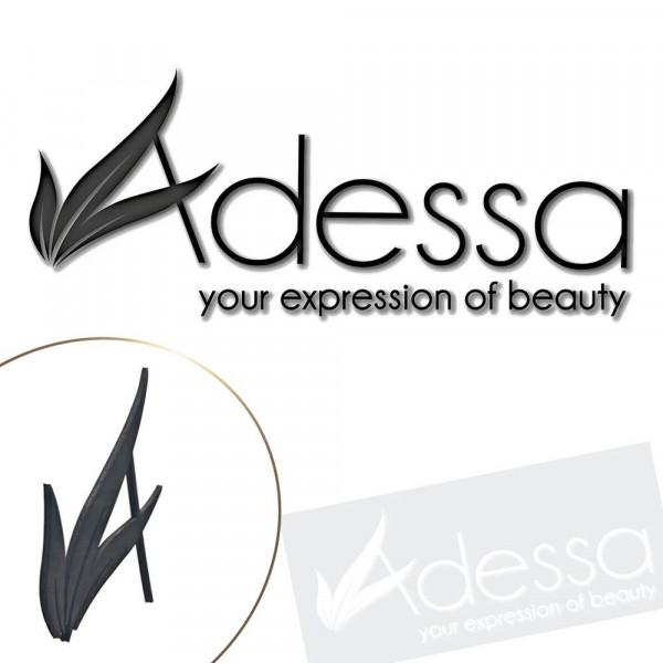 Wandbuchstaben Adessa aus Moosgummi, schwarz, selbstklebend - inkl. Karton